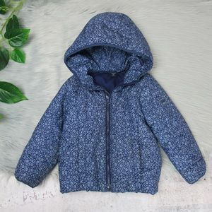 Baby Gap Primaloft Blue Floral Puffer 4T